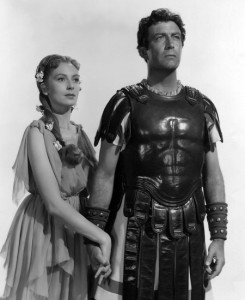 Robert Taylor et Deborah Kerr dans Quo Vadis (1951)