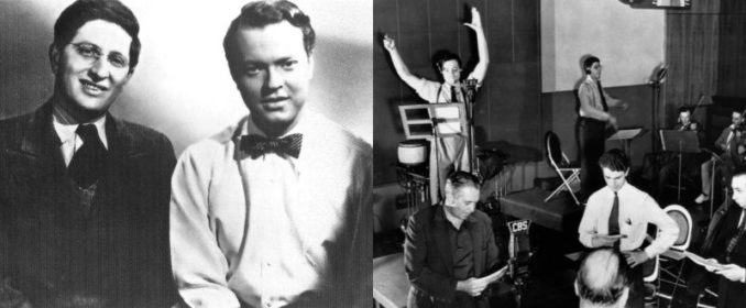 Bernard Herrmann et Orson Welles / Répétition de War Of The Worlds au Mercury Theater