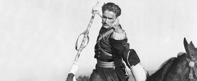 Errol Flynn dans The Charge Of The Light Brigade