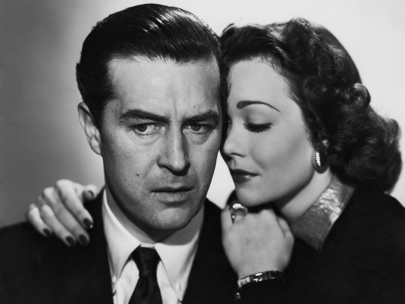 Ray Milland et Jane Wyman dans The Lost Weekend (1945)
