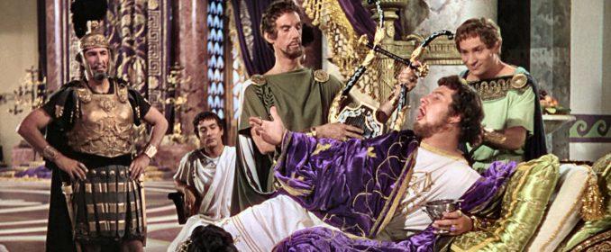 Néron (Peter Ustinov) dans Quo Vadis