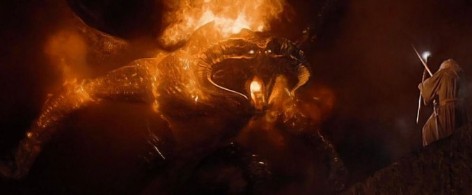 Gandalf facing the Balrog