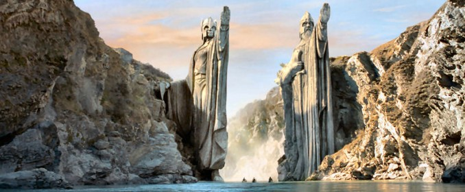 The statues of the Argonath
