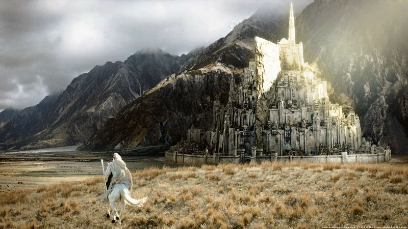 Gandalf at Minas Tirith