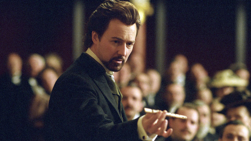 Edward Norton dans The Illusionist