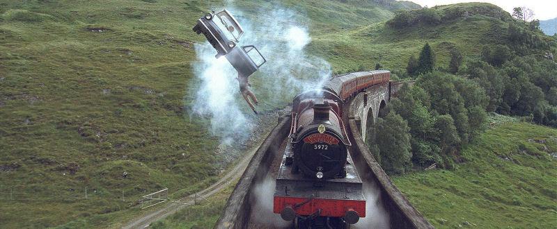 Hogwarts Express et voiture volante
