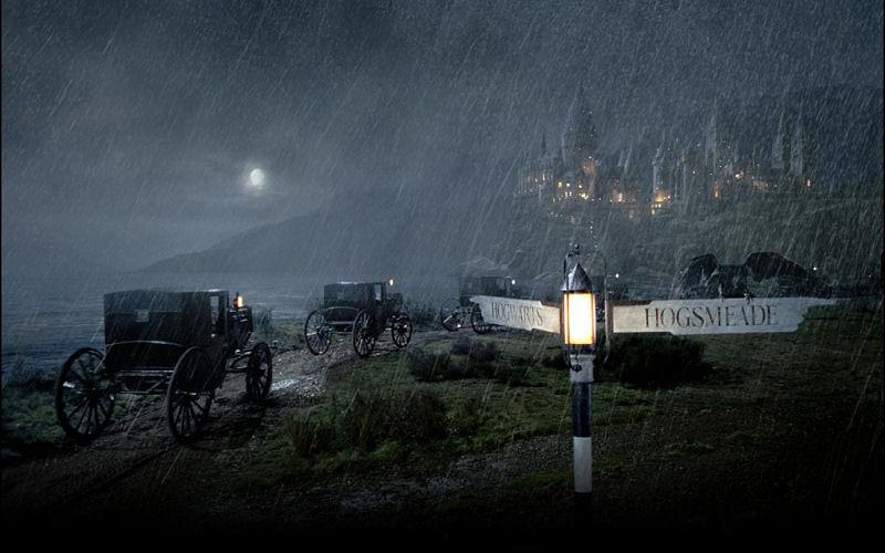 Hogwarts sous la pluie