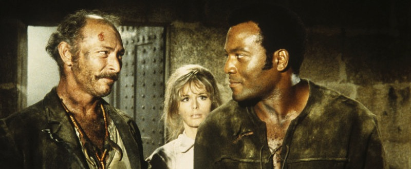 Lee Van Cleef, Marianna Hill & Jim Brown dans El Condor