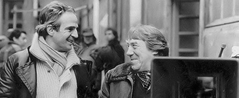 François Truffaut et Georges Delerue sur le tournage du Dernier Métro