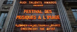 Festival des Musiques à l'Image 2012 Zimmer, Beltrami et Bource en lettres lumineuses à l'Olympia