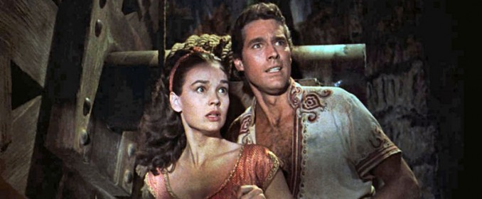 Sinbad (Kervin Matthews) et la Princesse (Kathryn Grant)