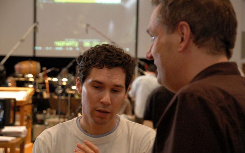 Bryan Singer et John Ottman pendant les sessions d'enregistrement de Superman Returns