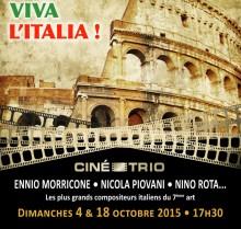 Nouveau voyage en Italie pour le Ciné-Trio