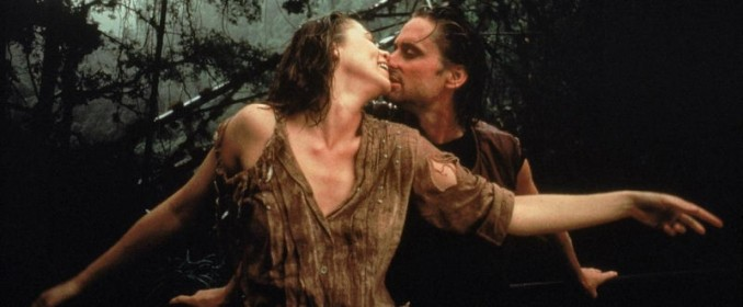 Kathleen Turner and Michael Douglas in Romancing The Stone
