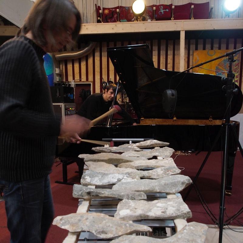 Fabrice Bony (lithophone) et Renaud Barbier (piano)
