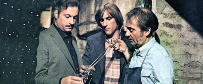 Michel Serrault, Gérard Depardieu et Jean Carmet dans Les Gaspards