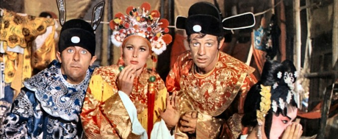 Jean Rochefort, Ursula Andress et Jean-Paul Belmondo dans Les Tribulations d'un Chinois en Chine
