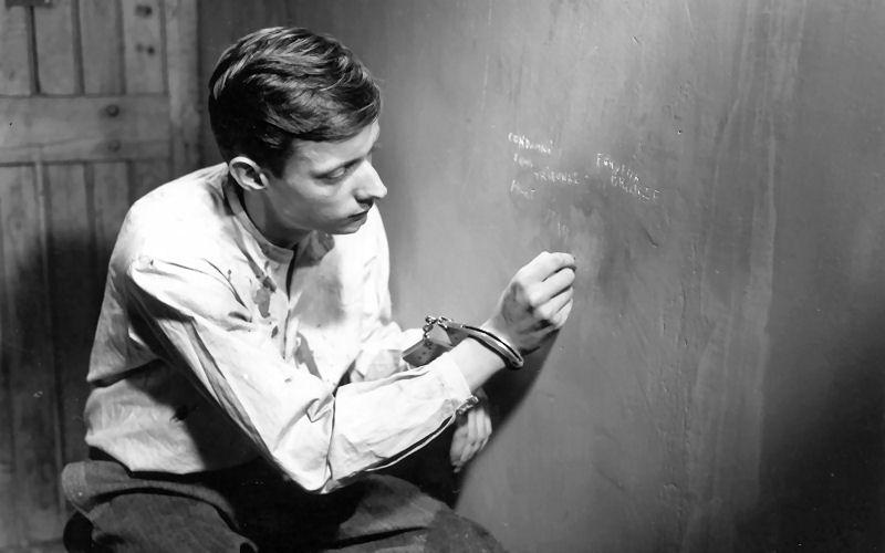 François Leterrier en 1956 dans Un Condamné à Mort s'est échappé
