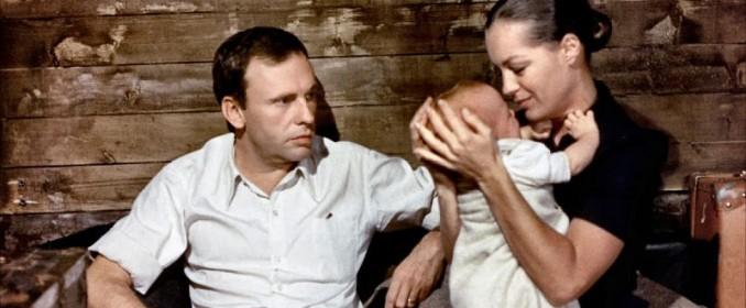 Jean-Louis Trintignant et Romy Schneider dans Le Train
