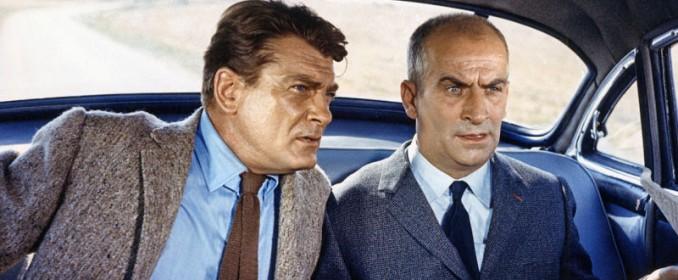 Fandor (Jean Marais) et le commissaire Juve (Louis de Funès)