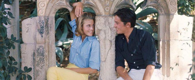 Jane Fonda et Alain Delon dans Les Félins