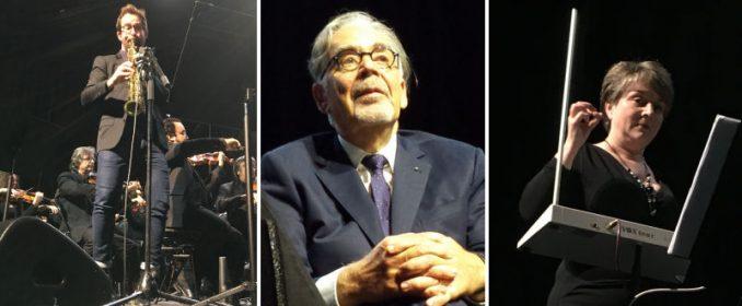 Emile Parisien au saxophone, Howard Shore et Lydia Kavina au thérémine