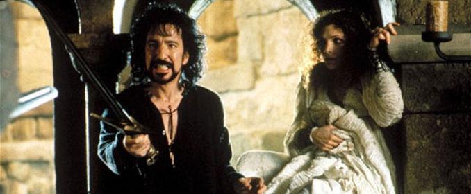 Le Sheriff de Nottingham (Alan Rickman) et Marian (Mary Elizabeth Mastrantonio)