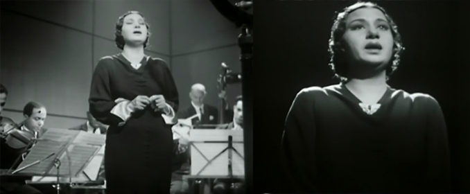 Oum Kalthoum interprétant Qadet Hayati Hayra Aleyk dans Le Chant de l'Espoir (1937)