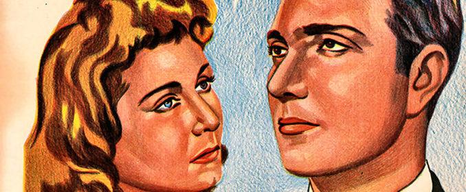 L'affiche du film Une Balle au Cœur (1944) avec Raqiya Ibrahim et Mohamed Abdelwahab