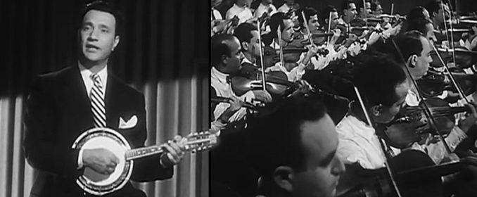 Mohamed Abdelwahab et son orchestre dans Flirts de Jeunes filles (1949)