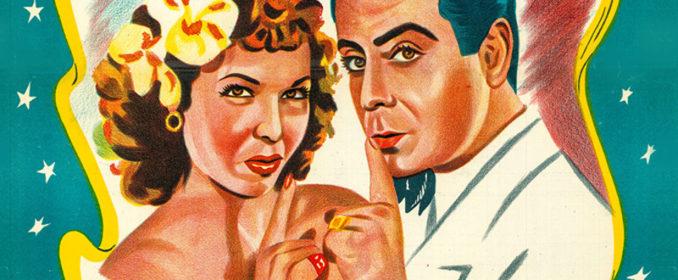 L'affiche du film C'est toi que j'aime (1949) avec Samia Gamal et Farid al Atrache
