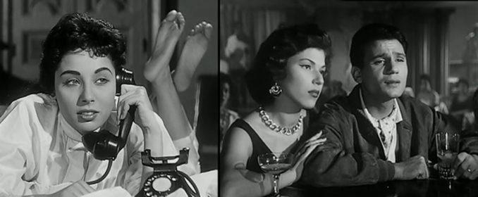 Lubna Abdel Aziz et la cuite d'Abdel Halim avec Kaouthar Shafik dans Illusions d'Amour (1957)