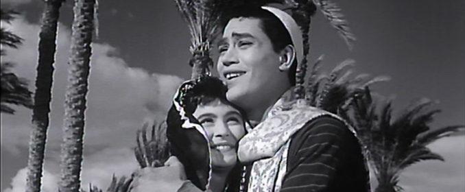 « Le chansonnier » Moharram Fouad et la belle Souad Hosni dans Hassan et Naïma (1959)