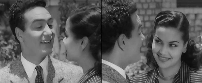 Mohamed Fawzi et la belle Madiha Yousri dans Fatma, Marika et Rachel (1949)