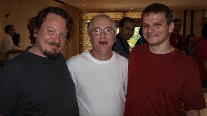 De gauche à droite, Olivier Desbrosses, Patrick Doyle et Florent Groult au Festival d'Ubeda 2008.