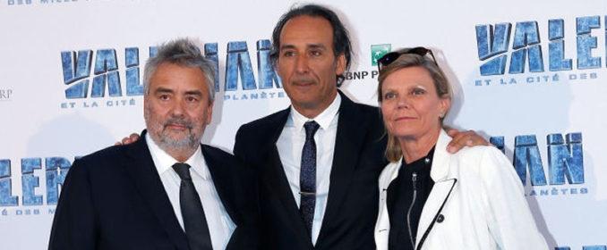 Luc Besson, Alexandre Desplat et Solrey à la première de Valérian et la Cité des Mille Planètes