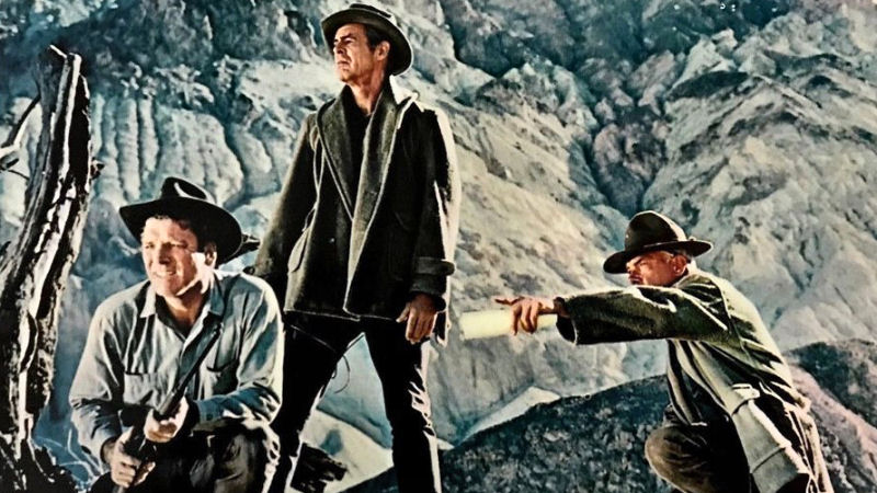 Burt Lancaster, Robert Ryan et Lee Marvin dans The Professionals
