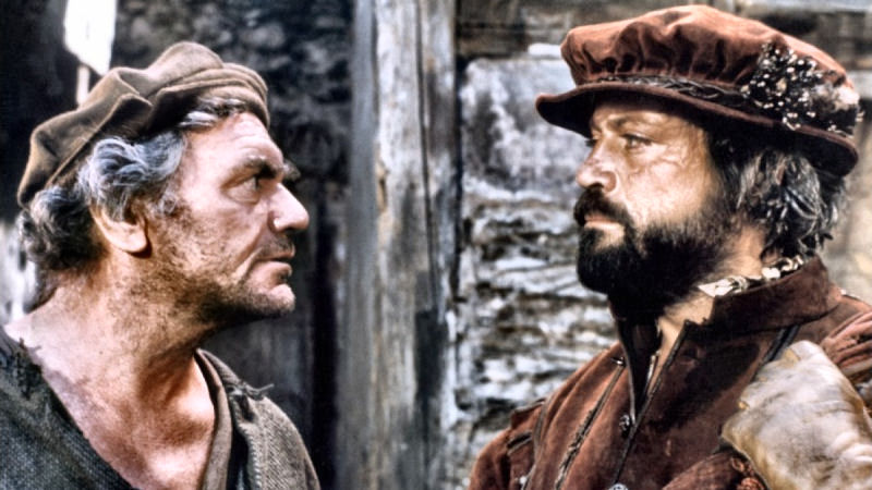 Ernest Borgnine et Oliver Reed dans Crossed Swords