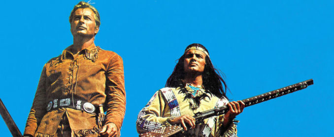 Old Shatterhand (Lex Barker) et Winnetou (Pierre Brice)