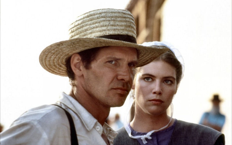 Harrison Ford et Kelly McGillis dans Witness