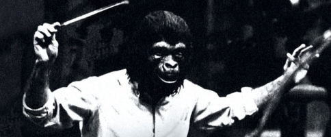 Jerry Goldsmith dirigeant une session de Planet Of the Apes