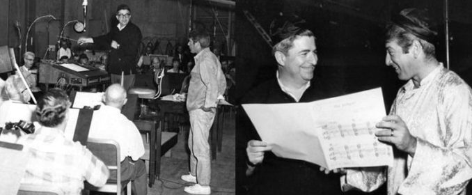 Lionel Newman et Jerry Goldsmith pendant les sessions de The Sand Pebbles