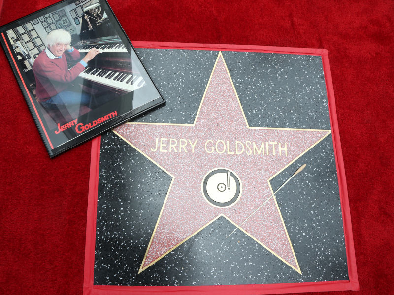 Inauguration de l'étoile de Goldsmith sur le Hollywood Walk of Fame en mai 2017