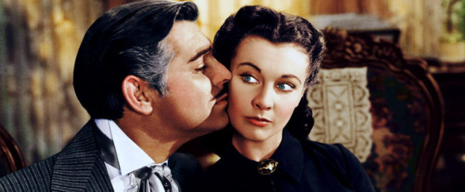 Clark Gable et Vivien Leigh dans Gone With The Wind