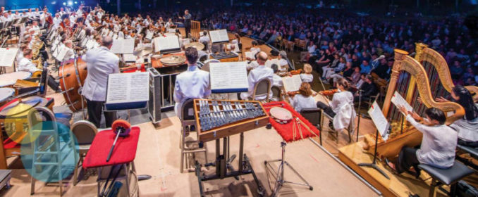 Le Boston Pops vu de la scène