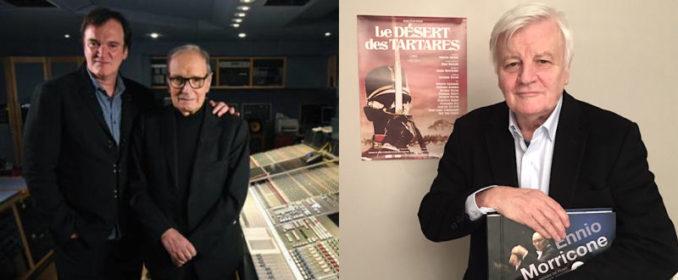 Quentin Tarantino et Ennio Morricone / Jacques Perrin