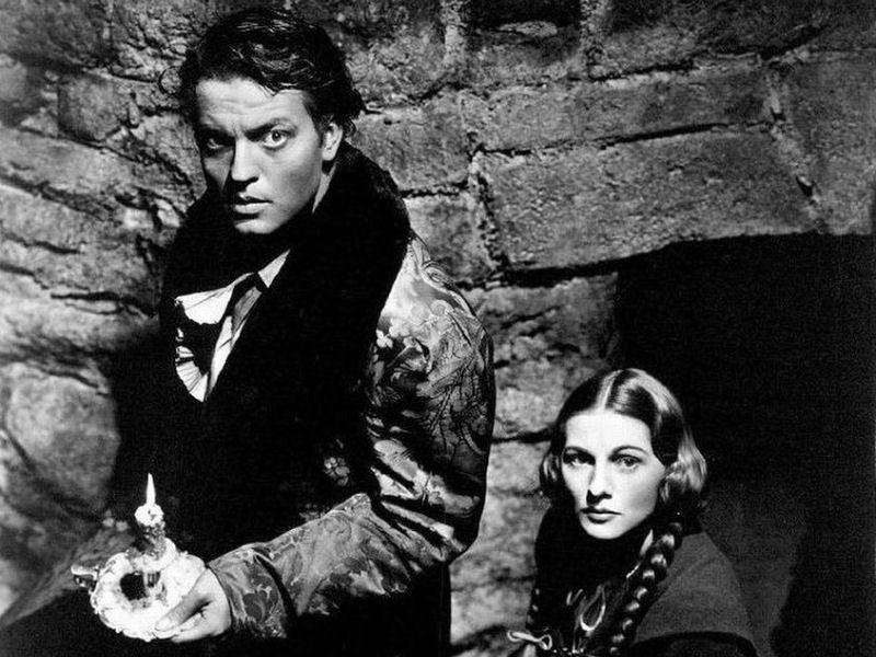 Orson Welles et Joan Fontaine dans Jane Eyre