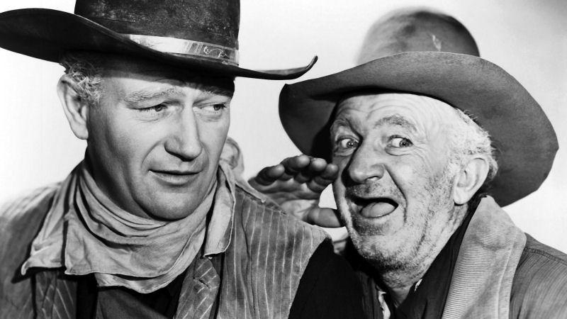 John Wayne et Walter Brennan dans Red River