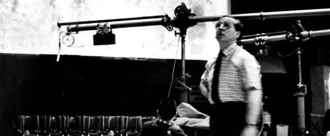 Franz Waxman en studio en 1954
