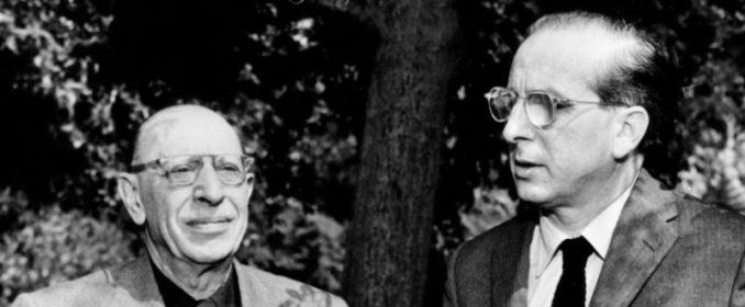 Igor Stravinsky et Franz Waxman en 1960